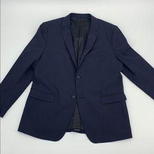 😎 EUC Theory Navy Blue Satin Lined Blazer 46R